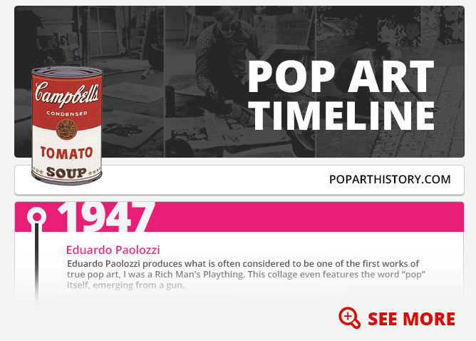 Pop art timeline discover the important events of pop art with our timeline altavistaventures Gallery
